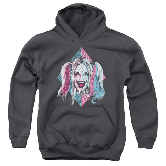 Suicide Squad Puddin Portrait Youth Pull Over Hoodie