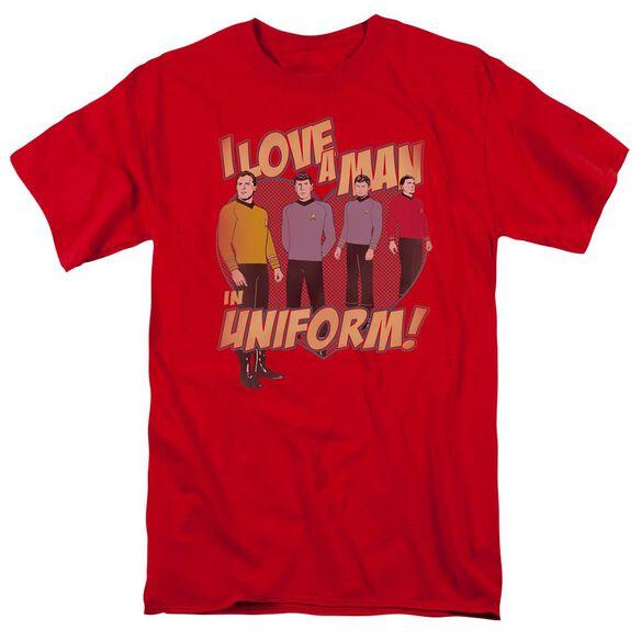 Star Trek Man In Uniform Short Sleeve Adult T-Shirt