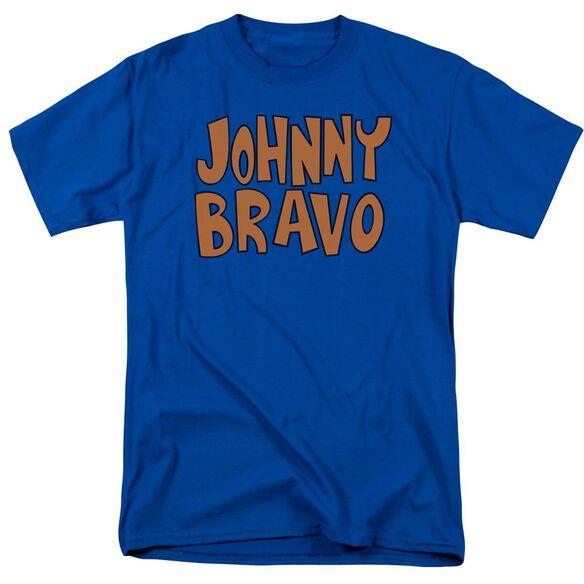 Johnny Bravo Jb Logo Short Sleeve Adult Royal Blue T-Shirt