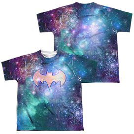 Dc Shielded Galaxy (Front Back Print) Short Sleeve Youth Poly Crew T-Shirt