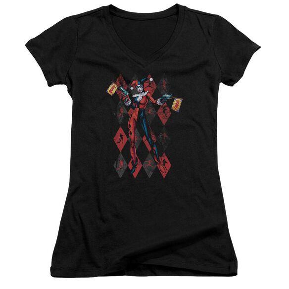 Batman Pow Pow Junior V Neck T-Shirt