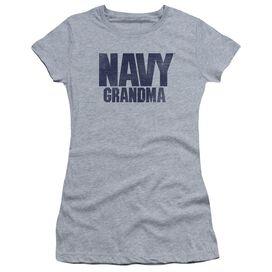 Navy Grandma Short Sleeve Junior Sheer Athletic T-Shirt