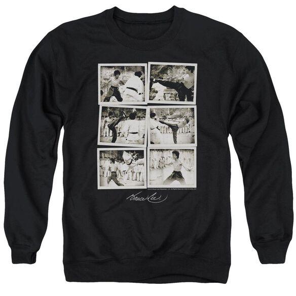 Bruce Lee Snap Shots Adult Crewneck Sweatshirt