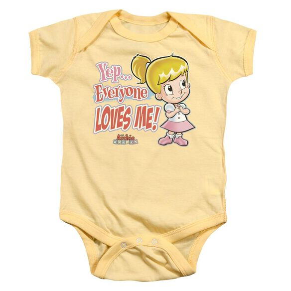 Archie Babies Everyone Loves Me Infant Snapsuit Banana Md