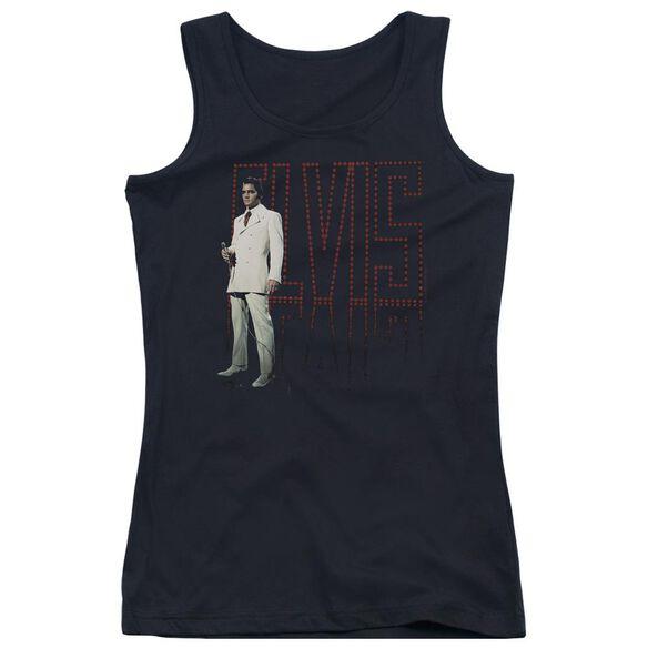 Elvis Presley White Suit Juniors Tank Top