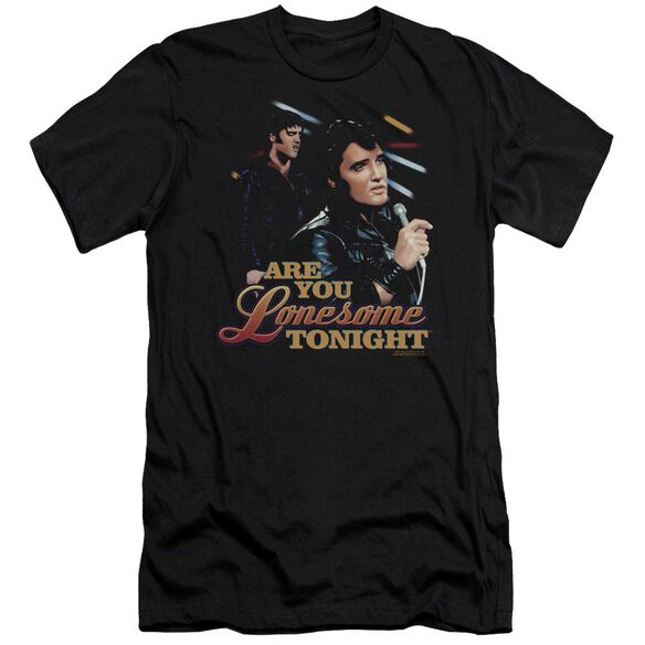Elvis Are You Lonesome Premuim Canvas Adult Slim Fit