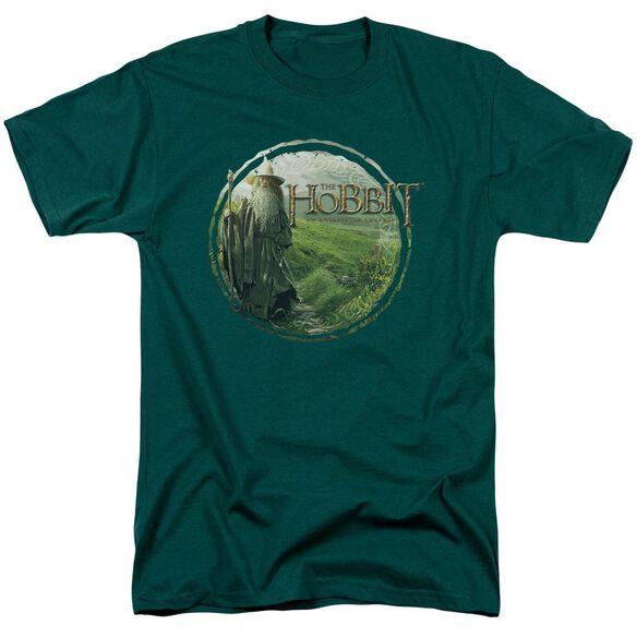 The Hobbit Gandalfs Journey Short Sleeve Adult Hunter Green T-Shirt