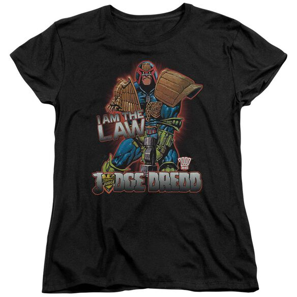 Judge Dredd Law Short Sleeve Womens Tee T-Shirt