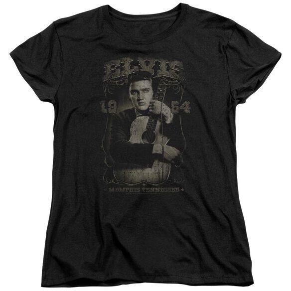 ELVIS PRESLEY 1954 - S/S WOMENS TEE - BLACK T-Shirt