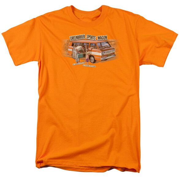Chevrolet Greenbrier Corvair Sport Wagon Short Sleeve Adult Orange T-Shirt