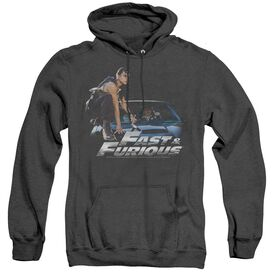 Fast And The Furious Car Ride - Adult Heather Hoodie - Black - Sm - Black