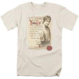 The Hobbit Burglar Short Sleeve Adult Cream T-Shirt