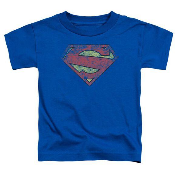 Superman New 52 Shield Short Sleeve Toddler Tee Royal Blue T-Shirt