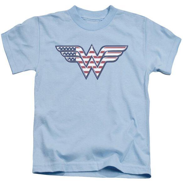 Dc Red,White & Blue Short Sleeve Juvenile Light Blue T-Shirt