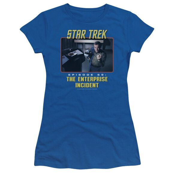 St Original The Enterprise Incident Short Sleeve Junior Sheer Royal T-Shirt