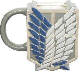 Attack on Titan Sculpted Scout Crest Mug