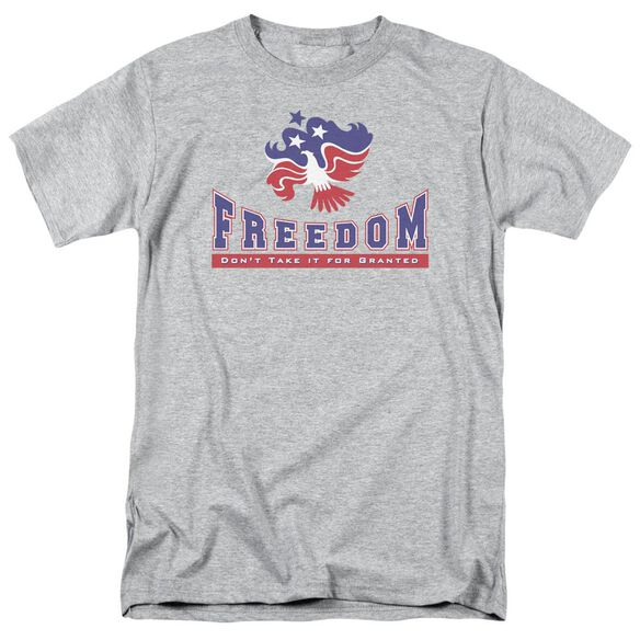 Freedom Short Sleeve Adult Athletic Heather T-Shirt
