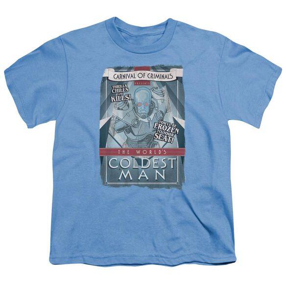 Batman Coldest Man Short Sleeve Youth Carolina T-Shirt