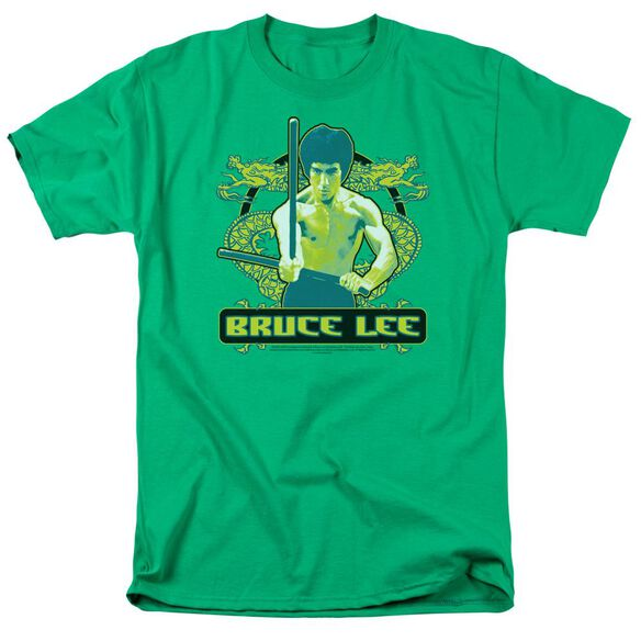 Bruce Lee Double Dragons Short Sleeve Adult Kelly T-Shirt