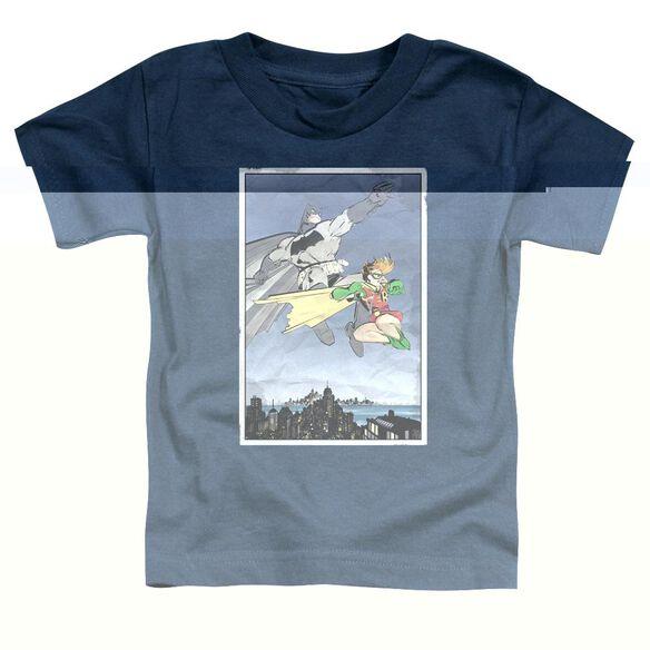 BATMAN DKR DUO - S/S TODDLER TEE - NAVY - T-Shirt