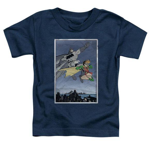 Batman Dkr Duo Short Sleeve Toddler Tee Navy Md T-Shirt