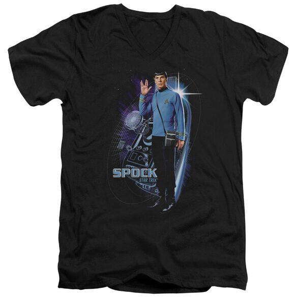 Star Trek Galactic Spock Short Sleeve Adult V Neck T-Shirt