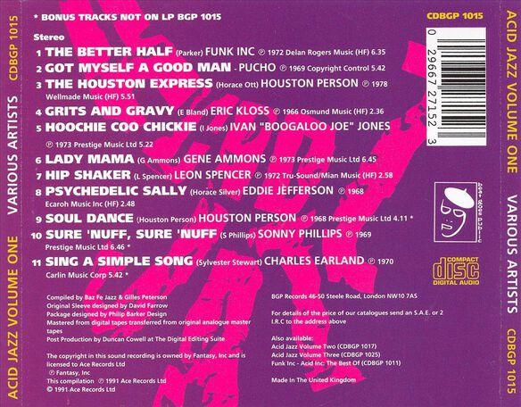Vol. 1 Acid Jazz