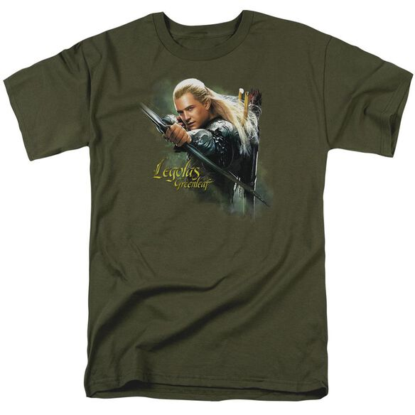 Hobbit Legolas Greenleaf Short Sleeve Adult Military Green T-Shirt