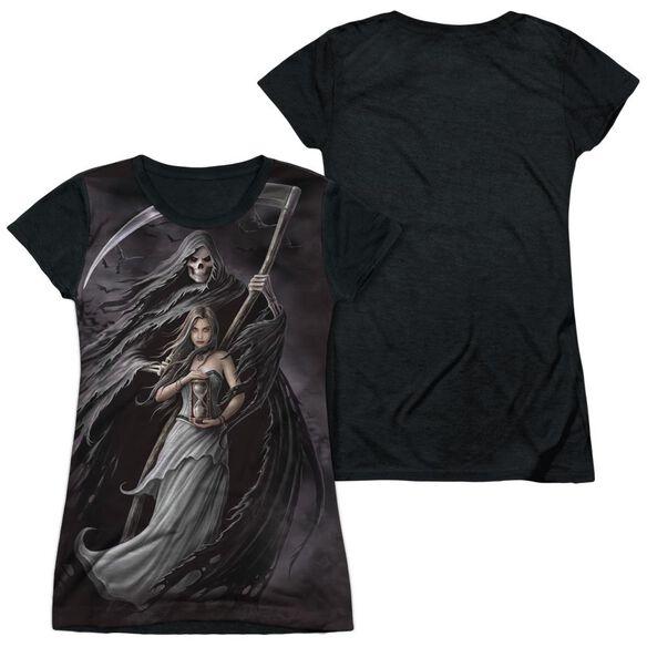 Anne Stokes Summon The Reaper Short Sleeve Junior Poly Black Back T-Shirt