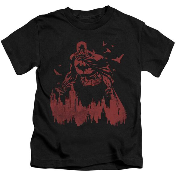 Batman Red Knight Short Sleeve Juvenile Black T-Shirt