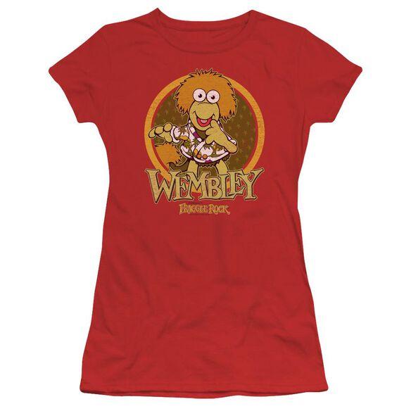 Fraggle Rock Wembley Circle Short Sleeve Junior Sheer T-Shirt