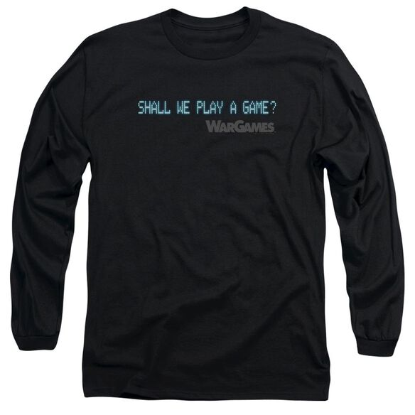 Wargames Shall We Long Sleeve Adult T-Shirt