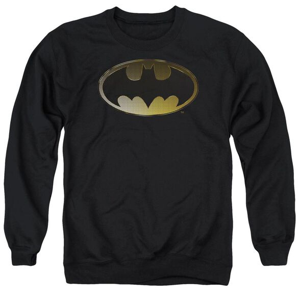 Batman Halftone Bat Adult Crewneck Sweatshirt