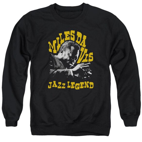 Miles Davis Jazz Legend Adult Crewneck Sweatshirt