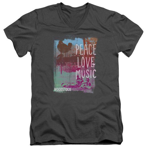 Woodstock Plm Short Sleeve Adult V Neck T-Shirt