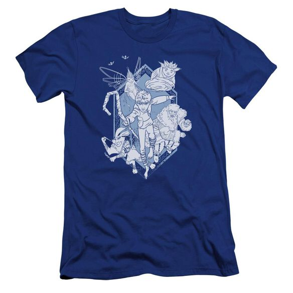 Rise Of The Guardians Coming For You Premuim Canvas Adult Slim Fit Royal