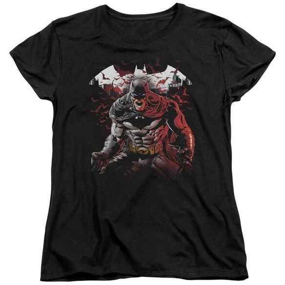 Batman Raging Bat Short Sleeve Womens Tee T-Shirt