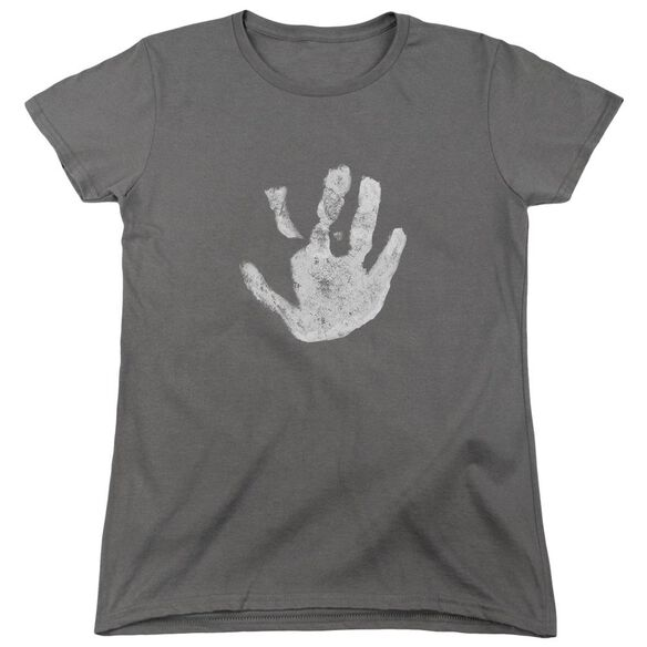 Lor White Hand Short Sleeve Womens Tee T-Shirt