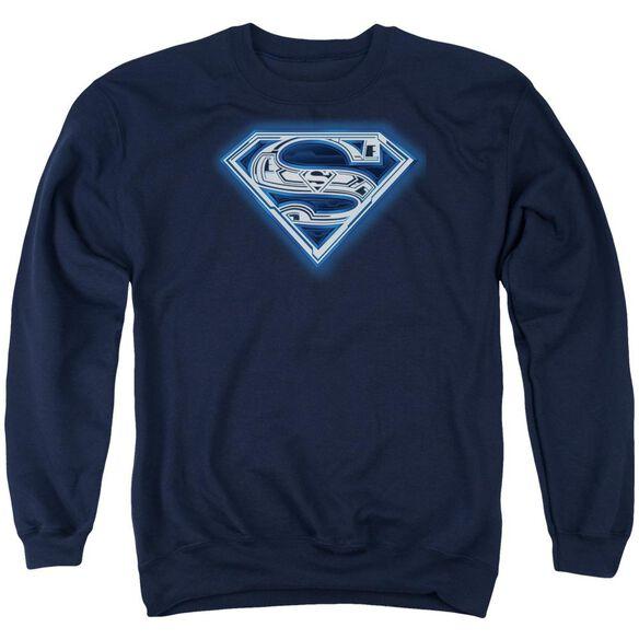 Superman Cyber Shield Adult Crewneck Sweatshirt