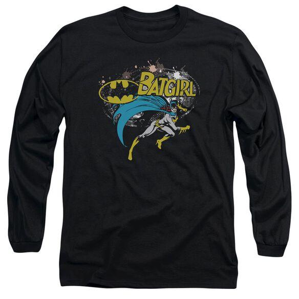Batman Batgirl Halftone Long Sleeve Adult T-Shirt