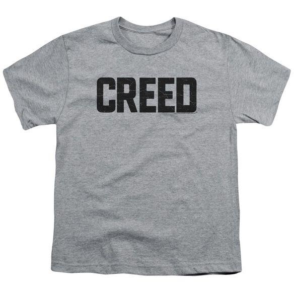 Creed Cracked Logo Short Sleeve Youth Athletic T-Shirt