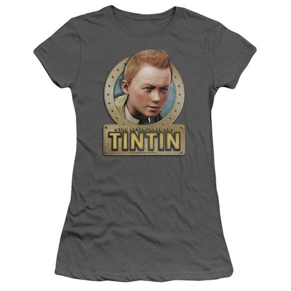 Tintin Metal Short Sleeve Junior Sheer T-Shirt