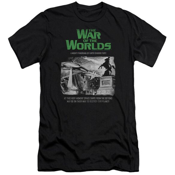 War Of The Worlds Attack People Poster Premuim Canvas Adult Slim Fit