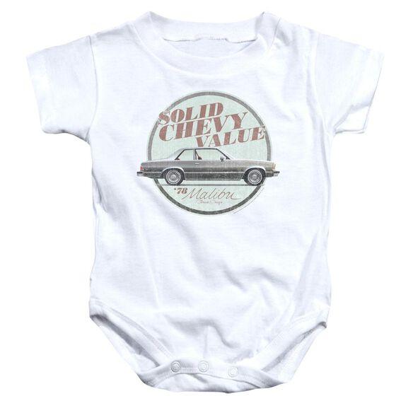 Chevrolet Do The 'Bu Infant Snapsuit White