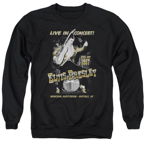 Elvis Live In Buffalo Adult Crewneck Sweatshirt