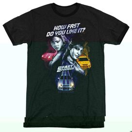 2 Fast 2 Furious Fast Women - Adult Heather Ringer - Black
