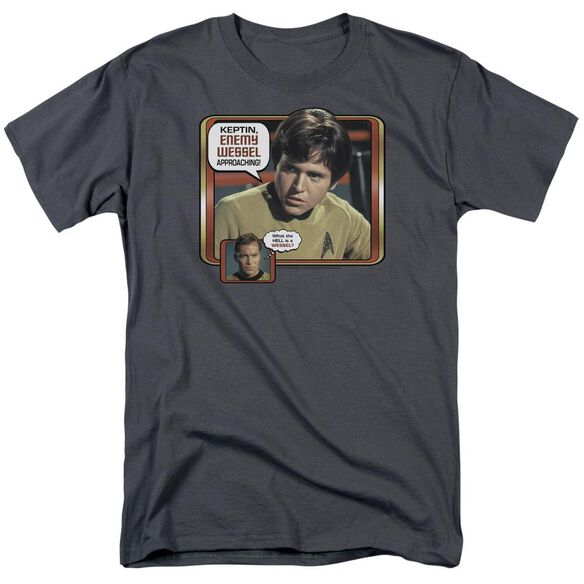 Star Trek Enemy Wessel Short Sleeve Adult Charcoal T-Shirt