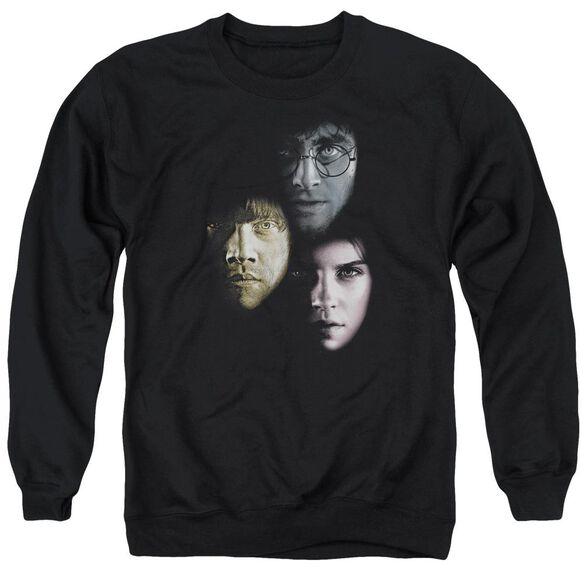 Harry Potter Hero Heads Adult Crewneck Sweatshirt