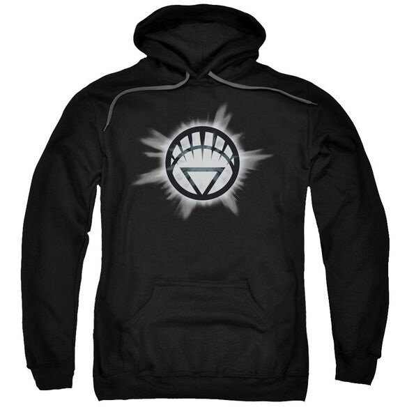 Green Lantern White Glow Adult Pull Over Hoodie Black