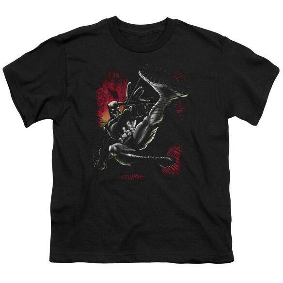 Batman Kick Swing Short Sleeve Youth T-Shirt